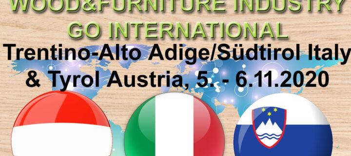 Poslovna virtualna b2b srečanja lesarjev s partnerji iz Trentino-Alto Adige/Südtirol, Italija & Tirolska, Avstrija